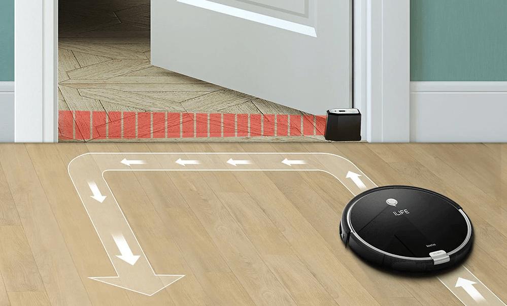 Робот-пылесос не двигается за границу виртуальной стены.