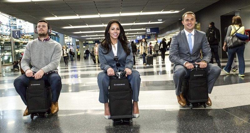 Скутер, который превращается в чемодан