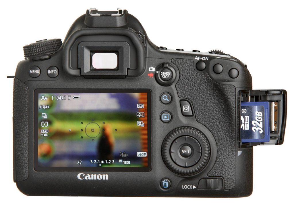Дисплей фотоаппарата.