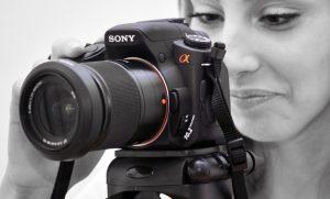 Съёмка зеркальным фотоаппаратом.
