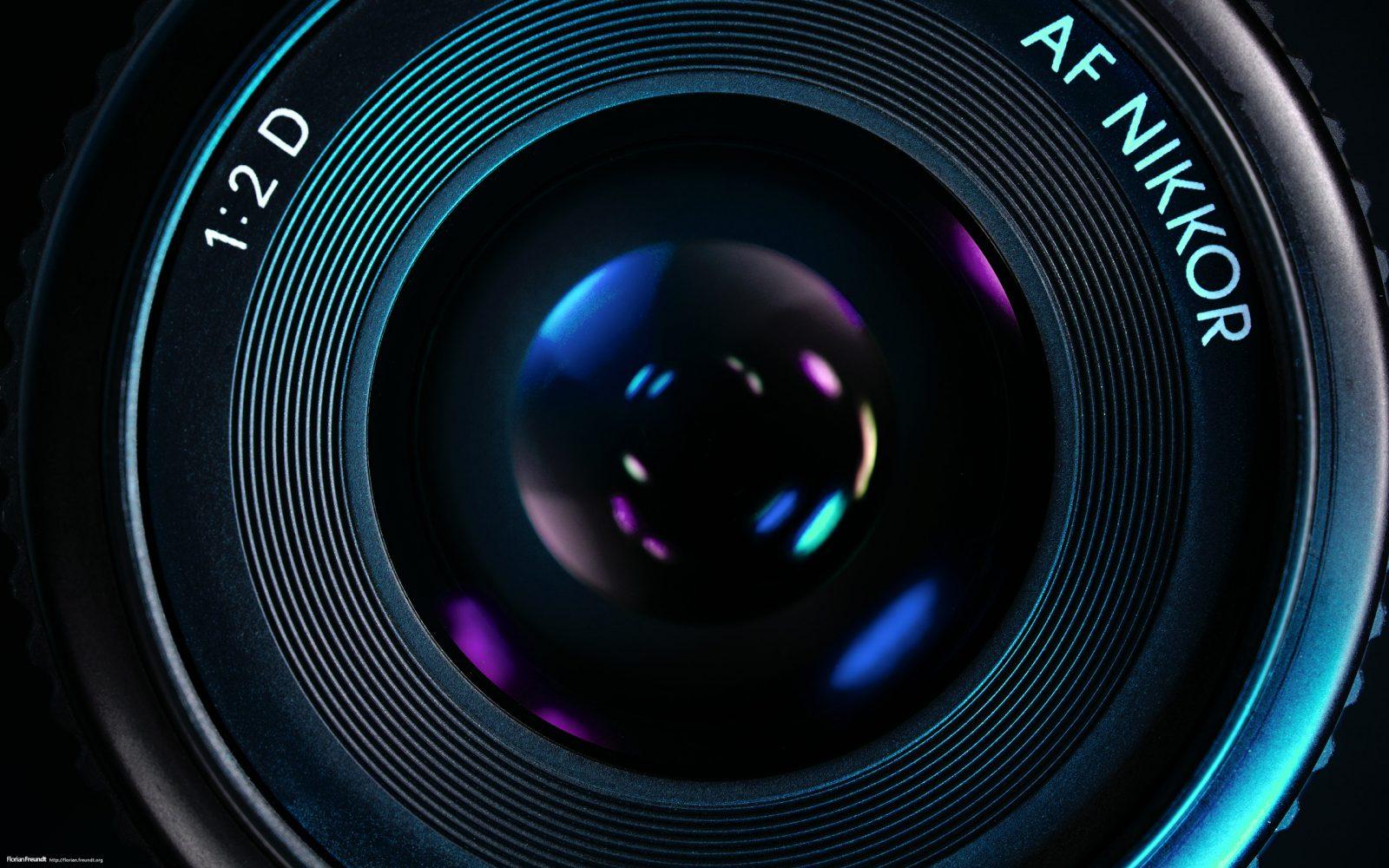 Объектив фотоаппарата.