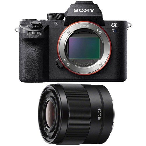 Фотокамера со сменным объективом.