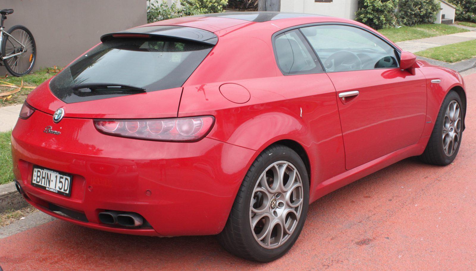 задний план Alfa Romeo Brera