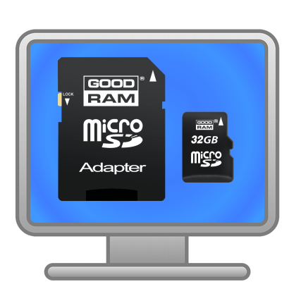 Компьютер и карты памяти.