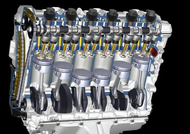 Порядок работы 6-цилиндрового двигателя