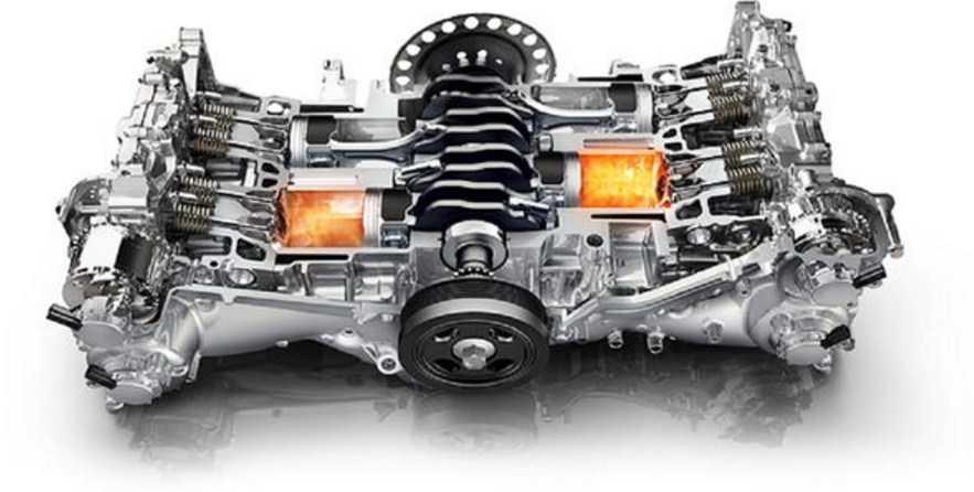 Порядок работы 4 цилиндрового оппозитного двигателя
