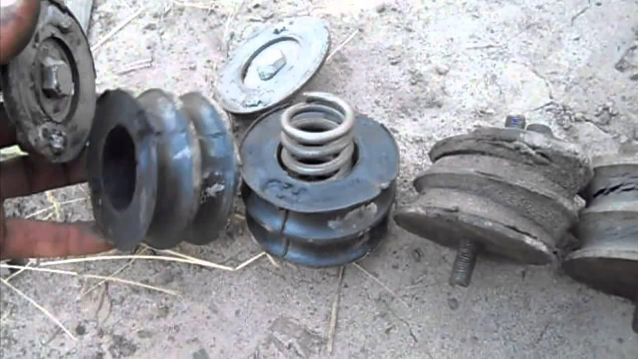 Изношенные подушки двигателя