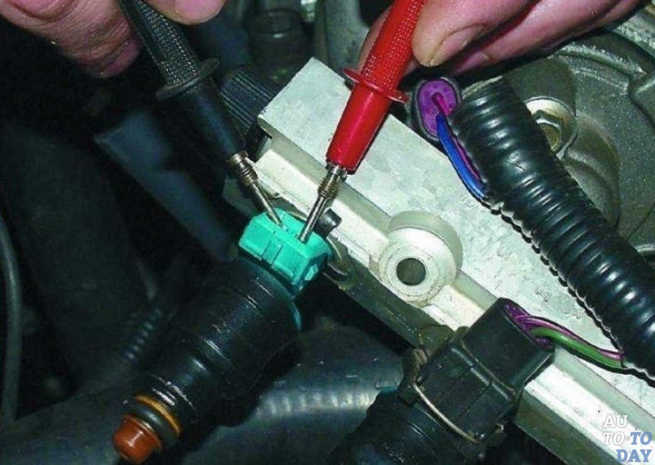 Один из вариентов проверки форсунок не снимая с двигателя - мультимером.