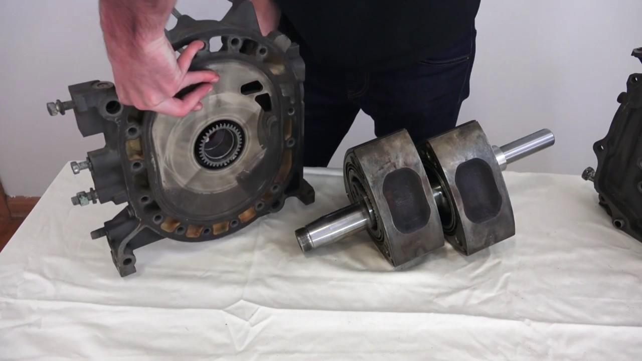 Поршни роторного двигателя, вид в сборе