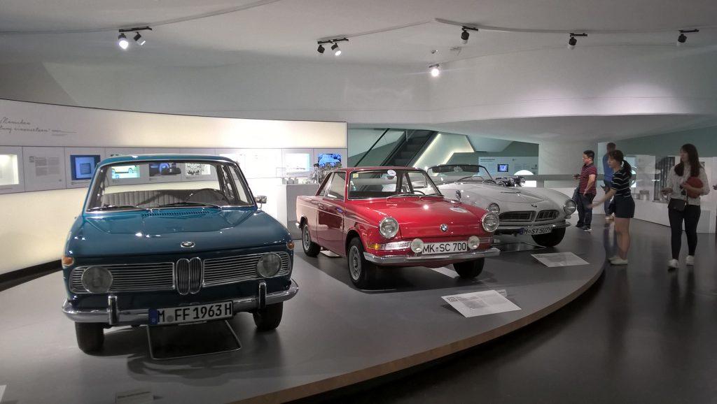 Экспонаты музея BMW.