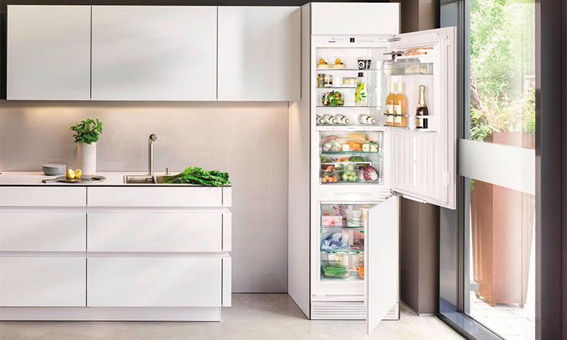 Встраиваемый двухкамерный холодильник