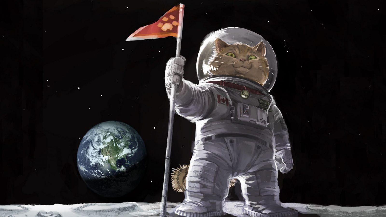 Космонавт сильной и независимой женщины