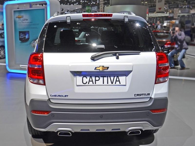 Chevrolet Captiva вид сзади