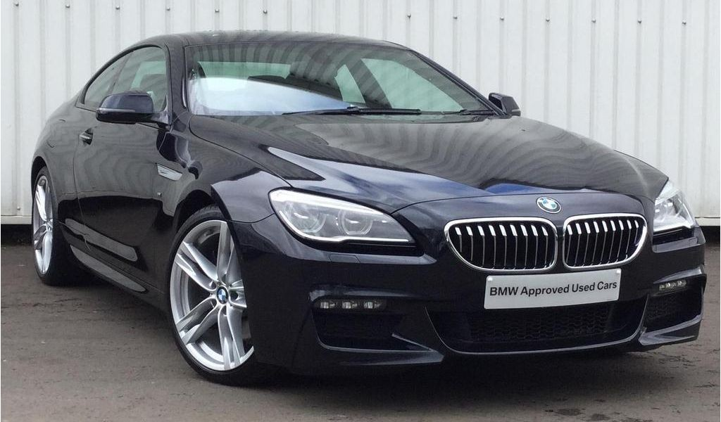BMW 650i: вид спереди.