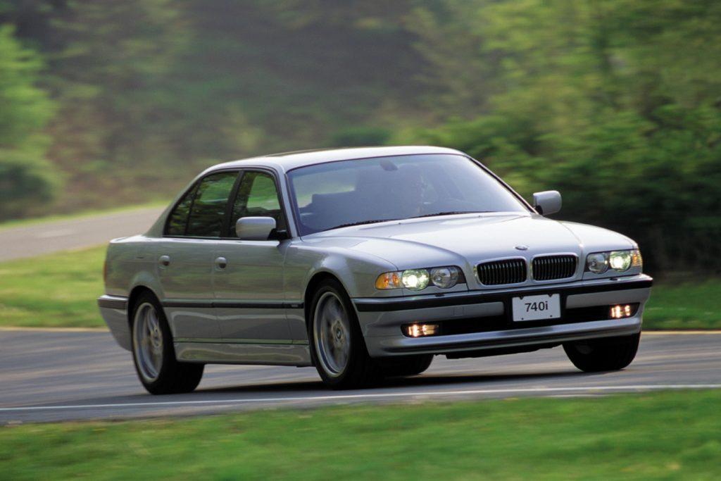 BMW 740i.