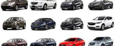 Модельный ряд Buick