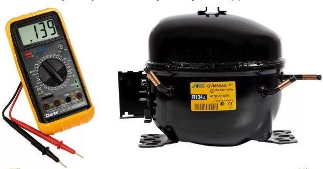 Мультиметр и компрессор.