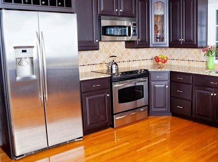 Холодильник сай бай саид на кухне