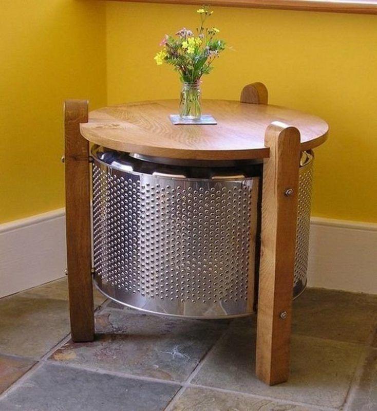 Столик из барабана от стиральной машины.