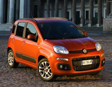 Fiat Panda вид спереди и сбоку.
