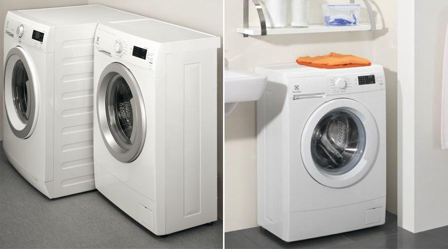 Узкая стиральная машинка.