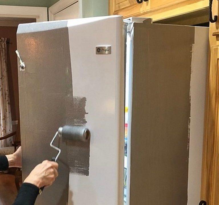 Покраска холодильника.
