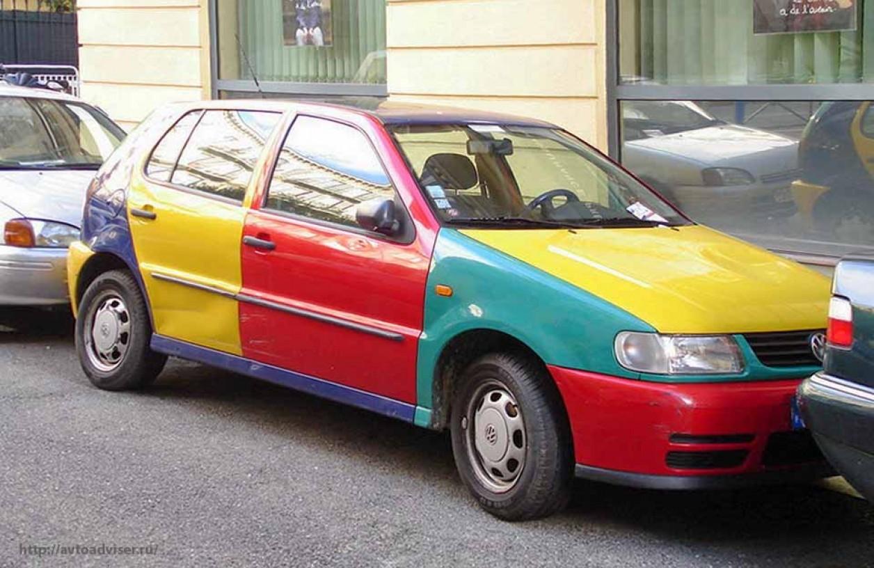 цветная машина