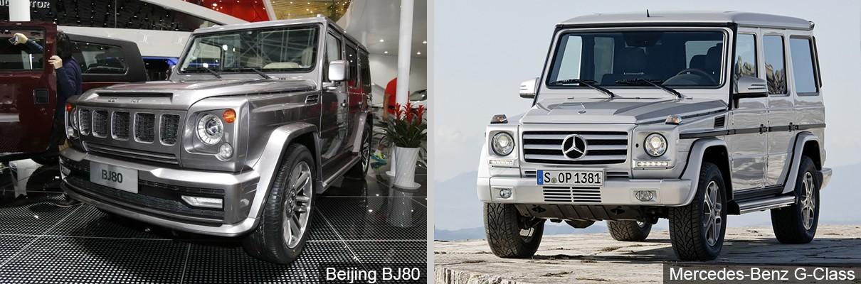 Mercedes-Benz G-Class и BAIC BJ80
