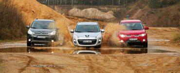 Mitsubishi Outlander XL и Peugeot 4007 и Citroen C-Crosser