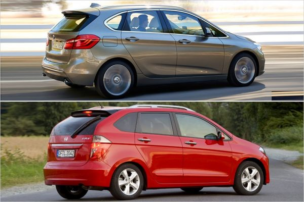 BMW 2-series Active Tourer и Honda FR-V