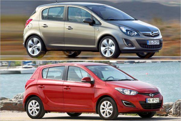 Opel Corsa и Hyundai i20