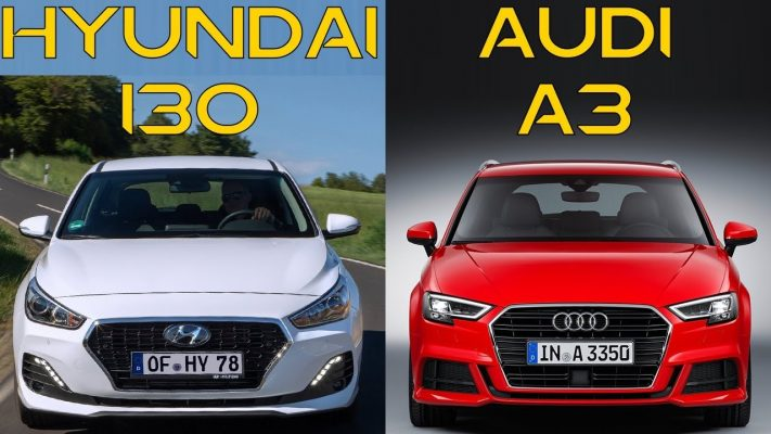 Hyundai i30 и Audi A3 Sportback