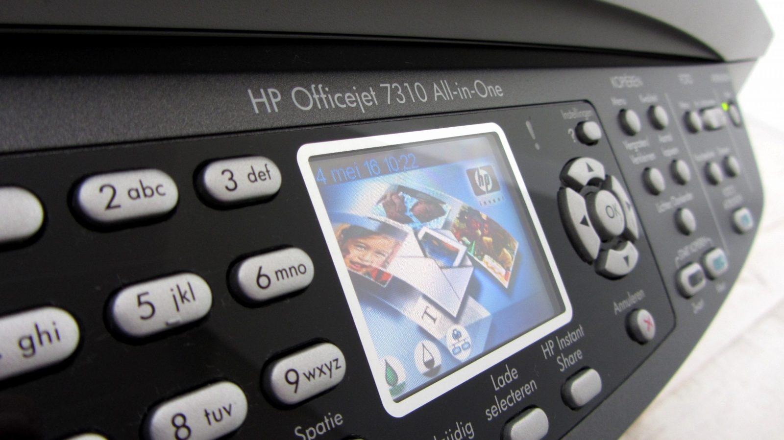 Дисплей принтера фирмы HP