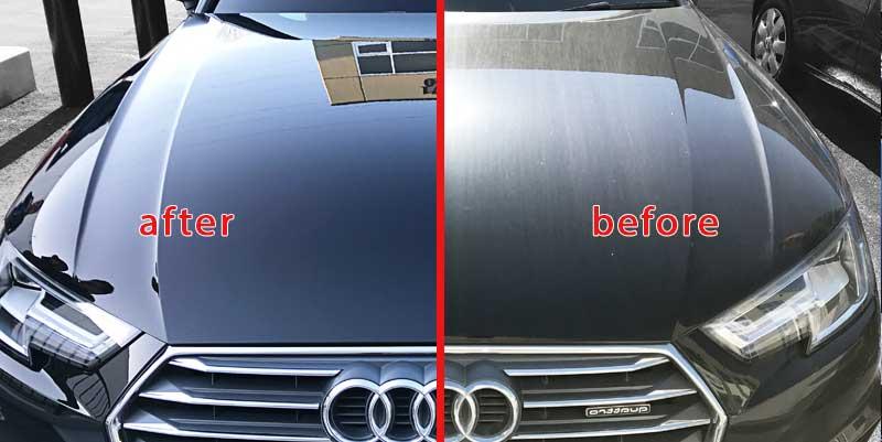 Авто до и после керамического покрытия