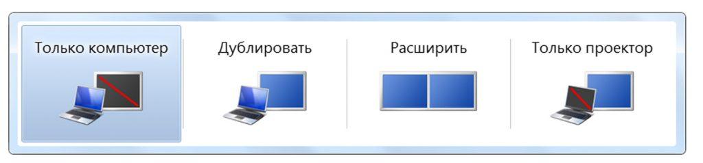 Режим экрана Виндовс 7