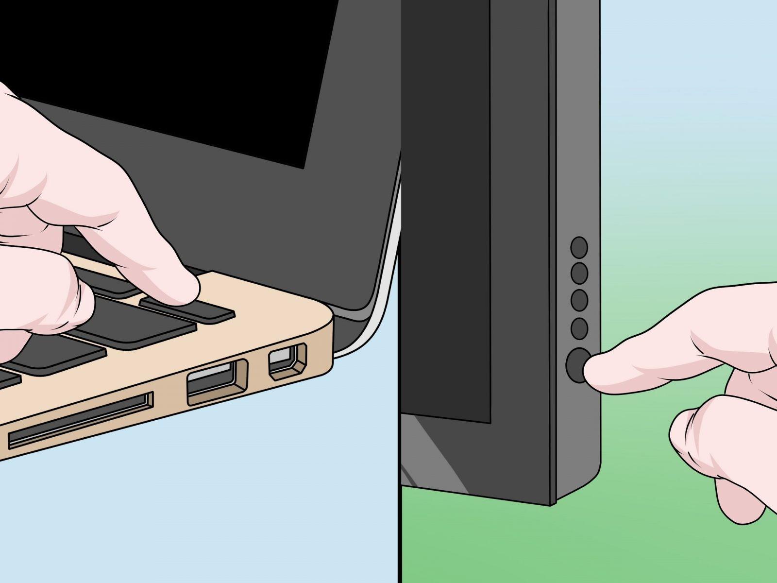подключить ноутбук к монитору