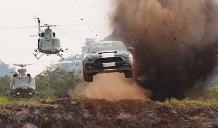 Подлетевшее авто