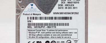 Как выглядит жёсткий диск на ноутбуке