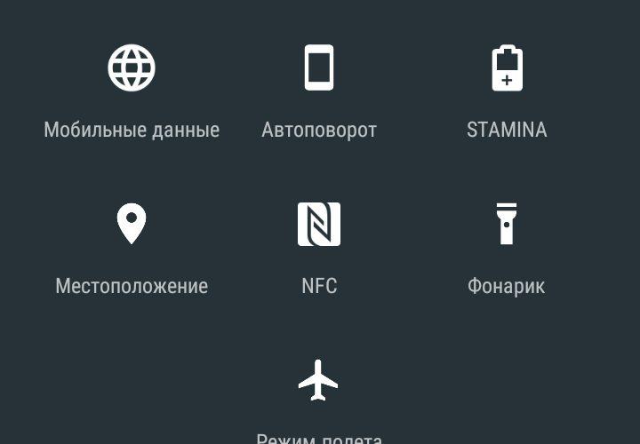 Значки на смартфоне вверху экрана