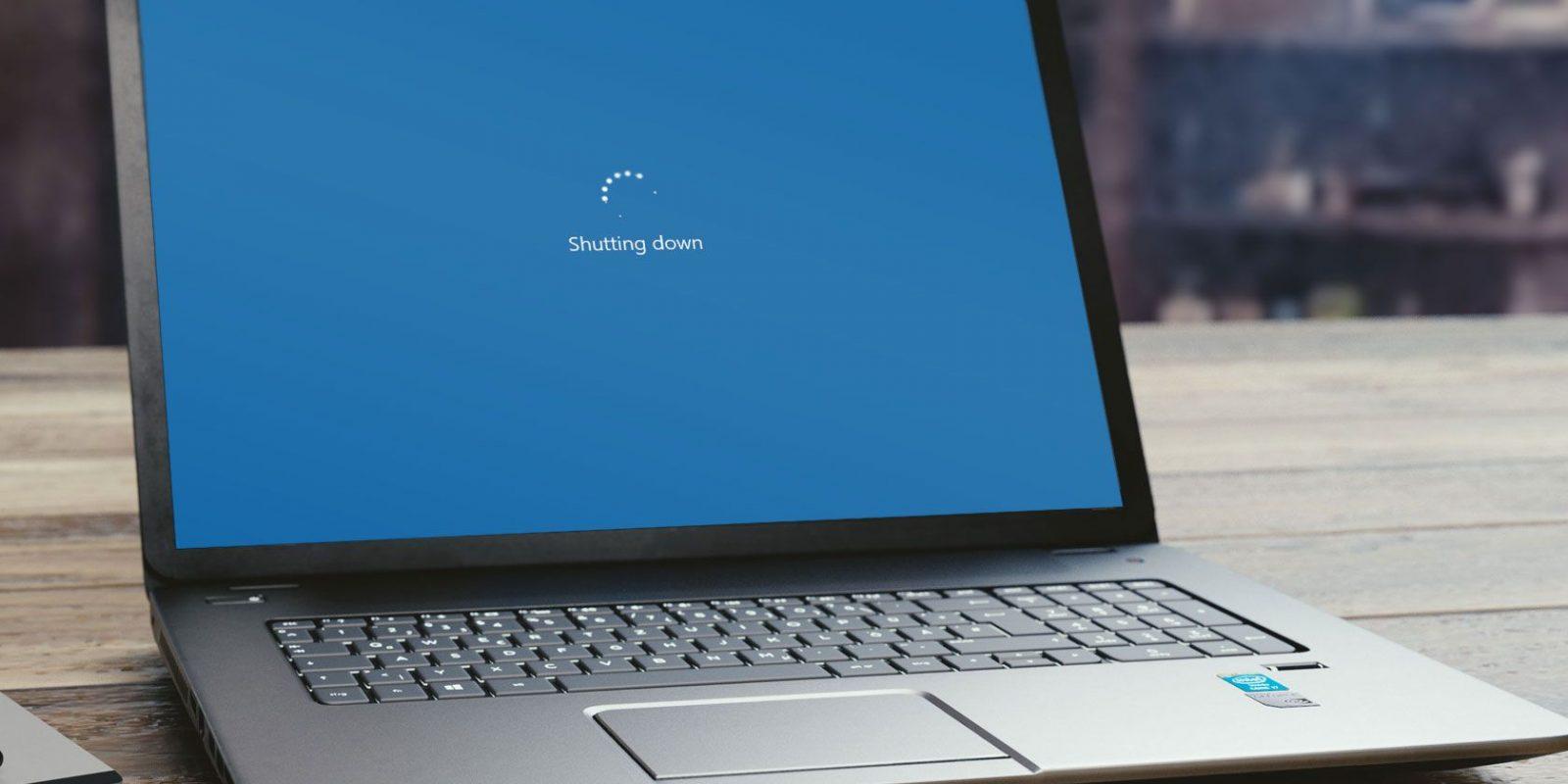 Выключающийся ноутбук
