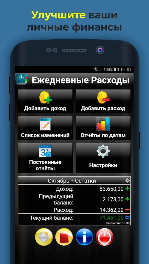 Ежедневные Расходы приложение