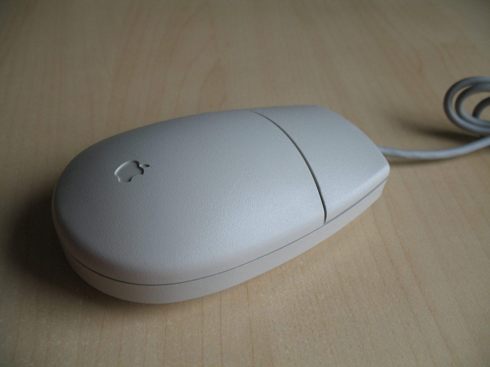 Однокнопочная мышка от Apple