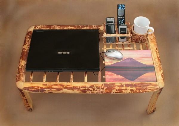 Как своими руками изготовить столик для ноутбука, чертежи и инструкция
